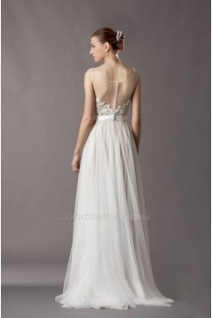 A-line Floor Length Lace and Tulle Bridal Wedding Dresses WD010373
