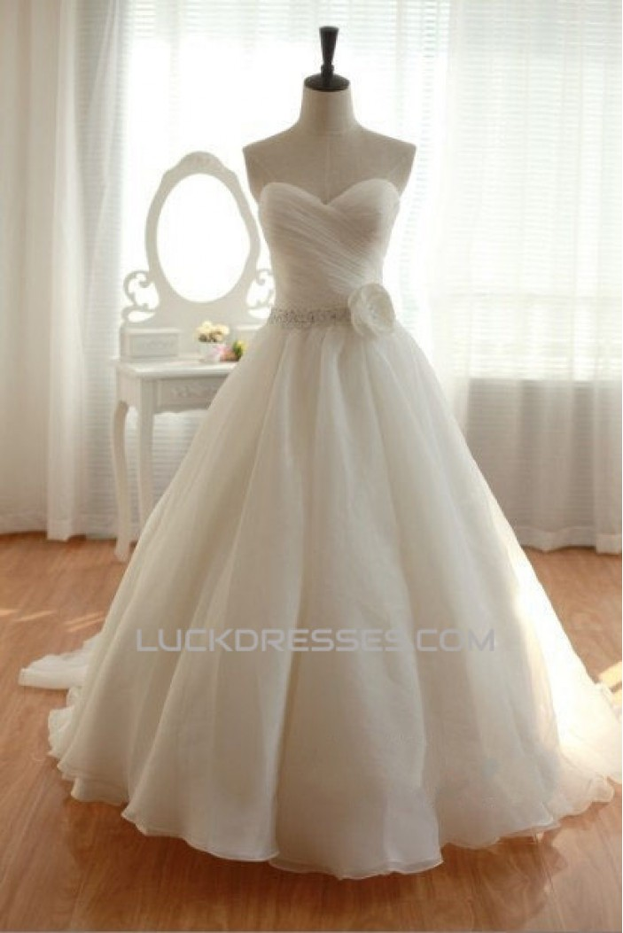 Ball Gown Sweetheart Beaded Bridal Gown Wedding Dress WD010444