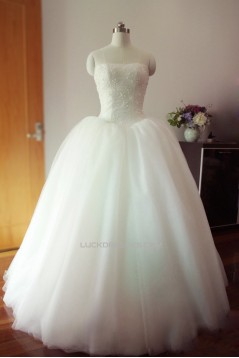 Ball Gown Strapless Bridal Gown Wedding Dress WD010454