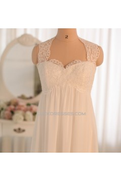 Empire Lace and Chiffon Bridal Gown Maternity Bridal Gown Wedding Dress WD010462