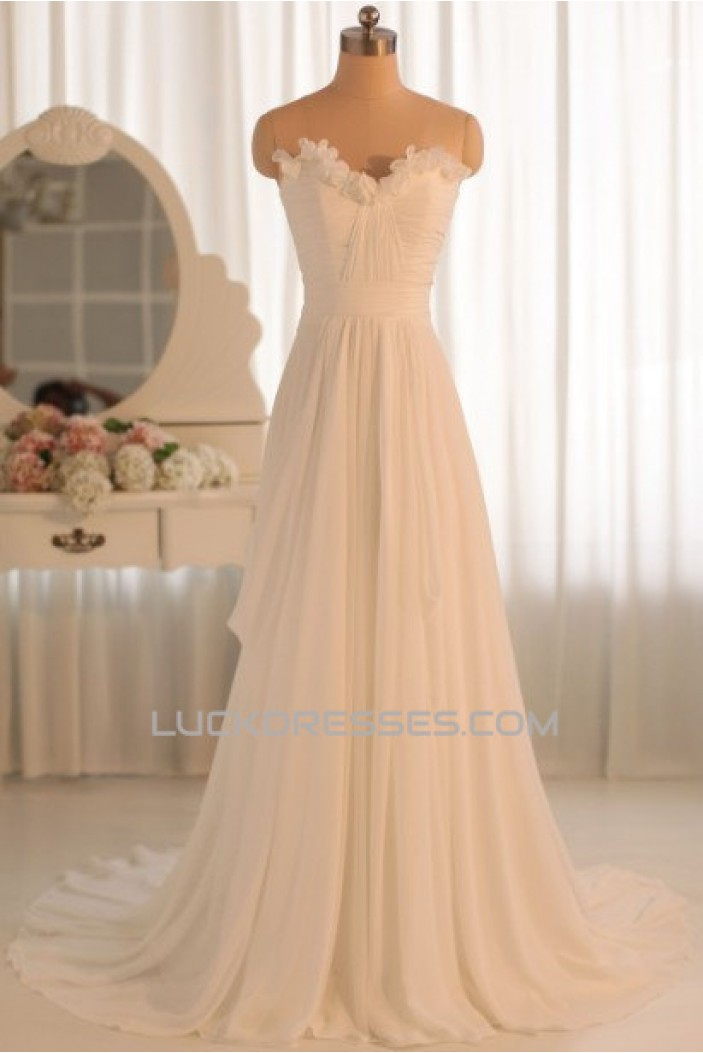 sweetheart wedding dresses a line sweetheart chiffon bridal gown wedding dress wd010464 7871