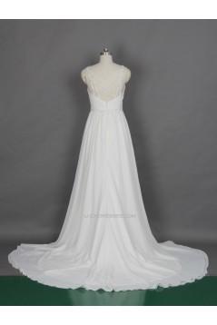 Sheath/Column Beaded Straps Bridal Gown Wedding Dress WD010469