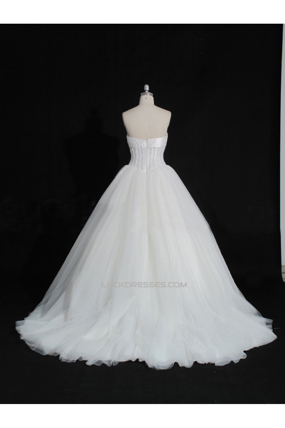 Ball Gown Sweetheart Bowknot Beaded Bridal Gown Wedding Dress WD010481