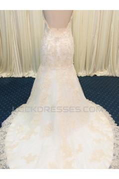 Trumpet/Mermaid Sweetheart Lace Bridal Wedding Dresses WD010588