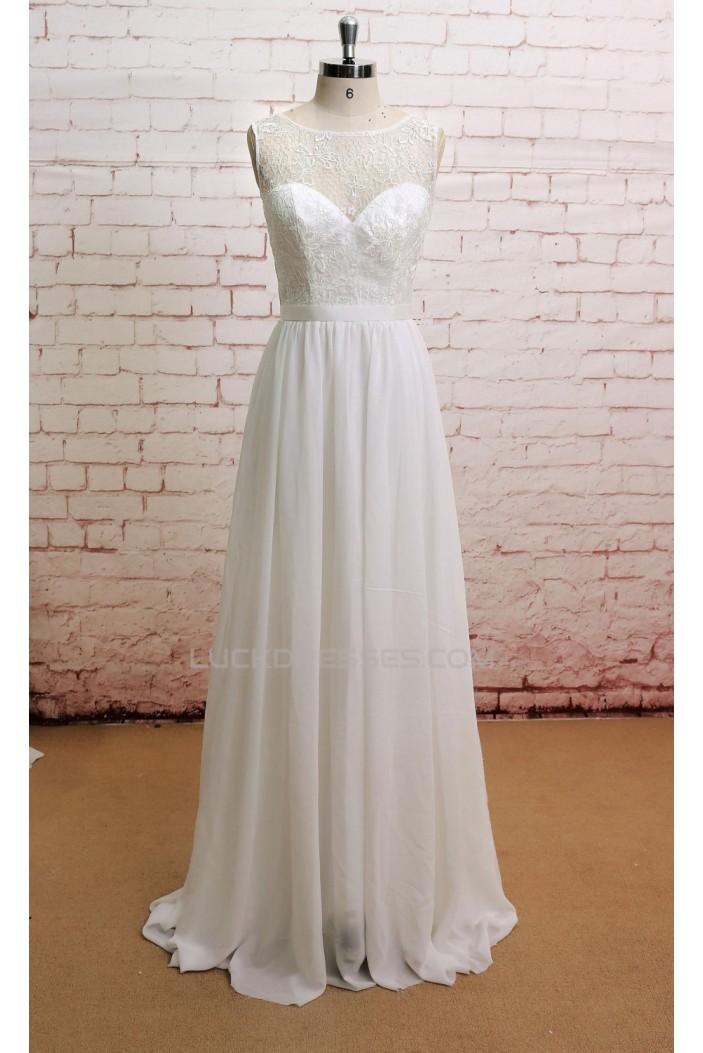 A-line Lace and Chiffon Bridal Wedding Dresses WD010640