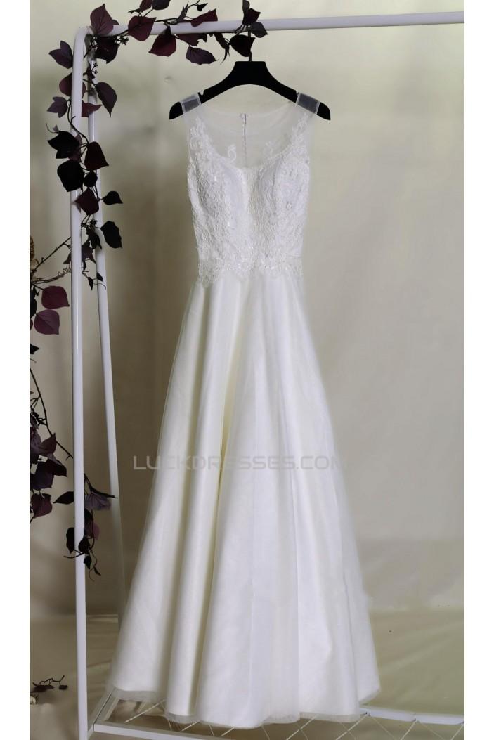 A-line Lace Bridal Gown Wedding Dress WD010702