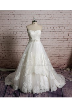 A-line Sweetheart Lace Bridal Gown Wedding Dress WD010720