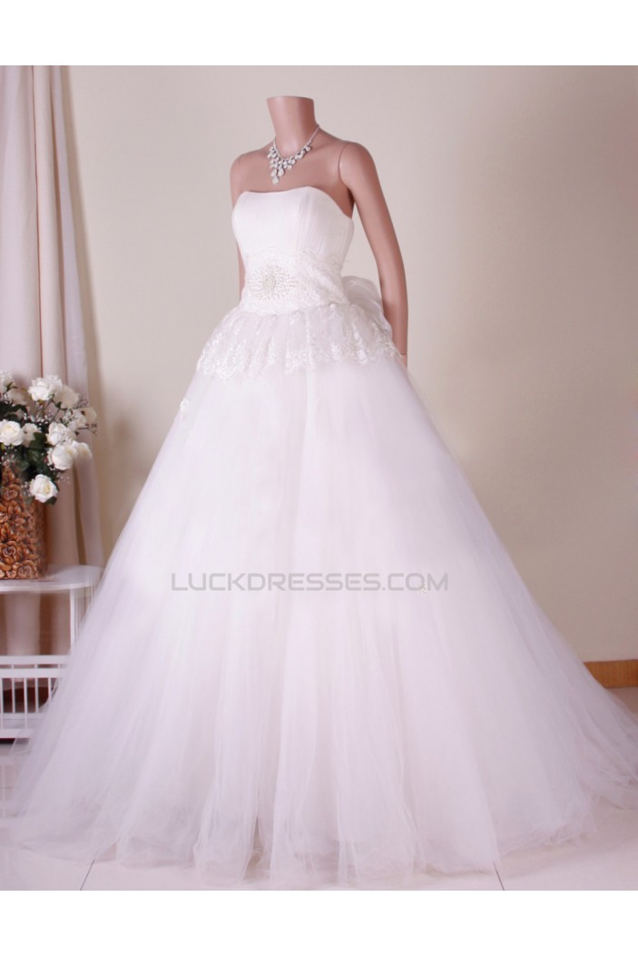 Ball Gown Strapless Bridal Gown Wedding Dress WD010784