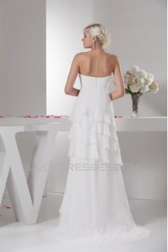 Strapless Sleeveless Sheath/Column Chiffon Wedding Dresses 2031009