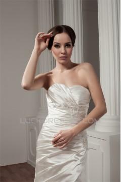 A-Line Sweetheart Court Train Beautiful Wedding Dresses 2031022