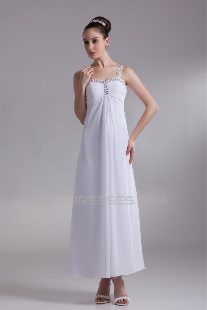 Chiffon Satin One-Shoulder Sheath/Column Reception Wedding Dresses 2031151