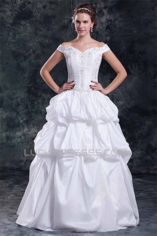 Wholesale Sleeveless Taffeta Off-the-Shoulder Ball Gown Wedding ...
