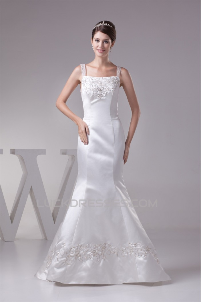 Mermaid/Trumpet Straps Sleeveless Wedding Dresses 2030216