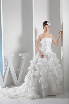 Ball Gown Satin Lace Taffeta Square Sleeveless New Arrival Wedding Dresses 2030285