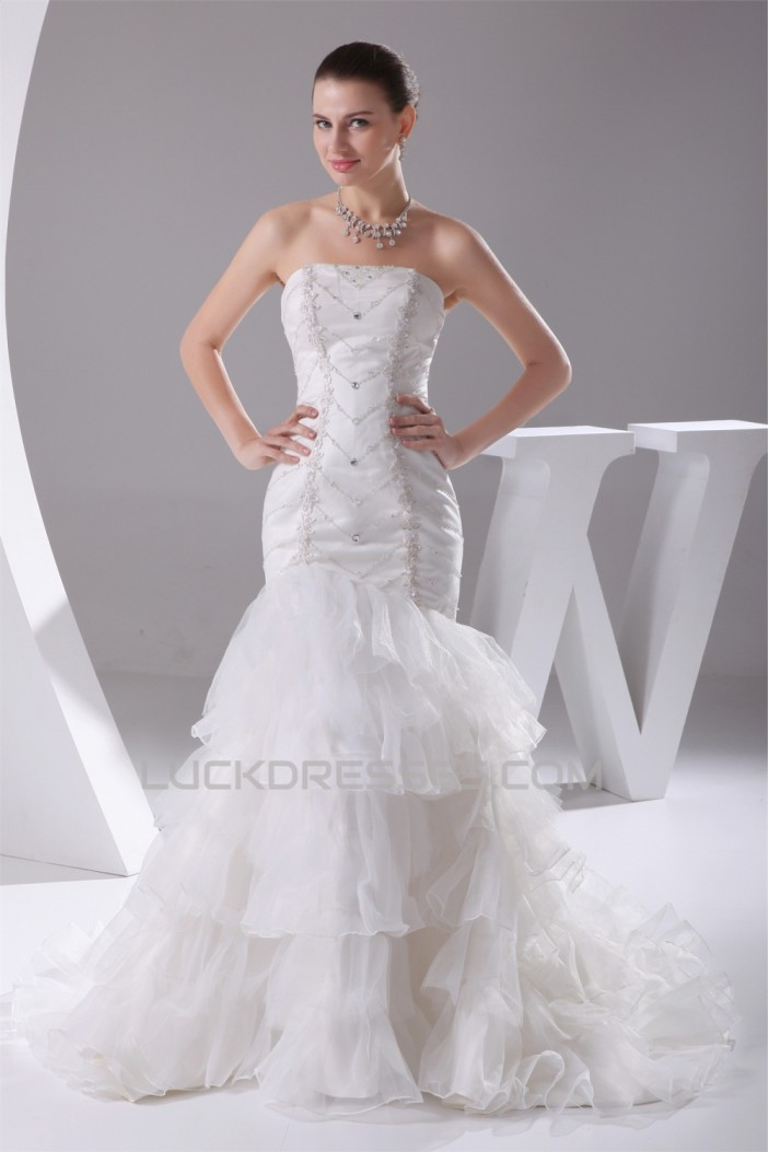 strapless mermaid wedding dresses trumpet mermaid beaded strapless wedding dresses 2030292 7720