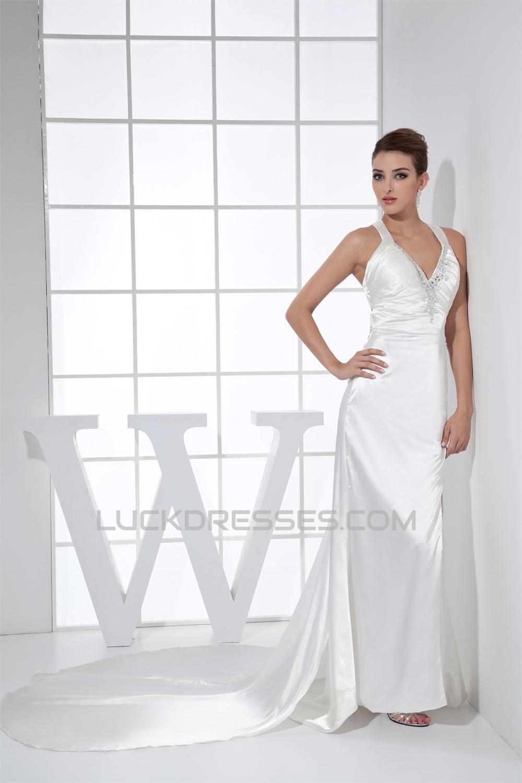 Spaghetti Strap Sheath Wedding Dress