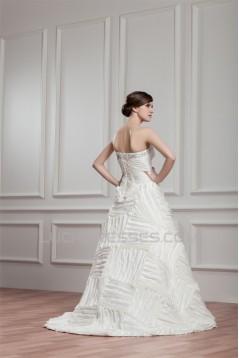 A-Line Sweetheart Sleeveless Taffeta New Arrival Wedding Dresses 2030565