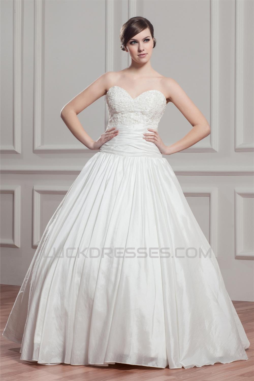 Beautiful Ball Gown Sleeveless Sweetheart Taffeta Wedding Dresses ...