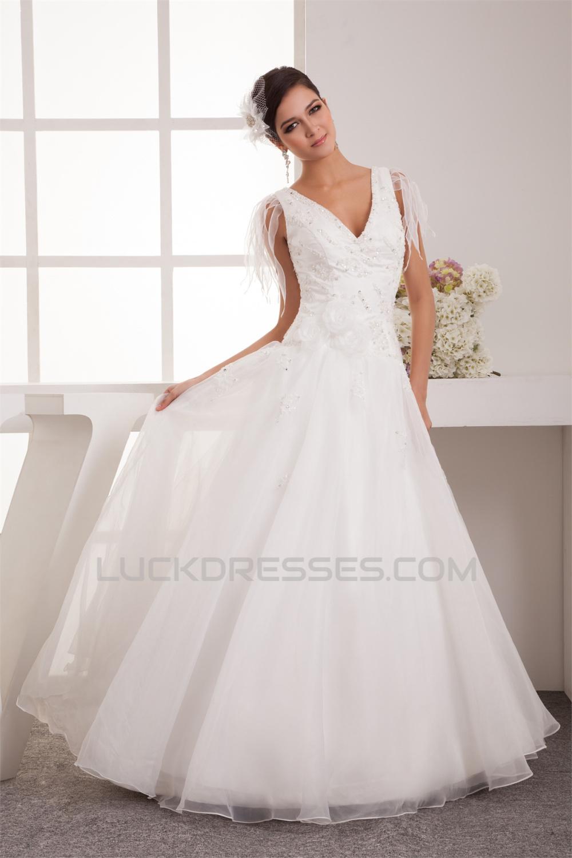 Breathtaking Ball Gown V-Neck Organza Taffeta New Arrival Wedding ...