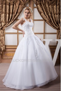 Great Satin Beaded Lace Sweetheart Ball Gown Wedding Dresses 2030729