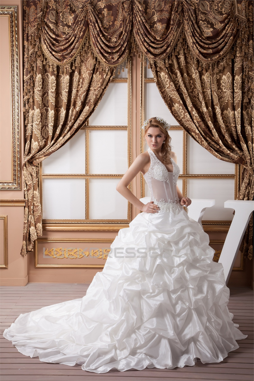 777640bf1f43b Satin Tulle Lace Wedding Dress - raveitsafe