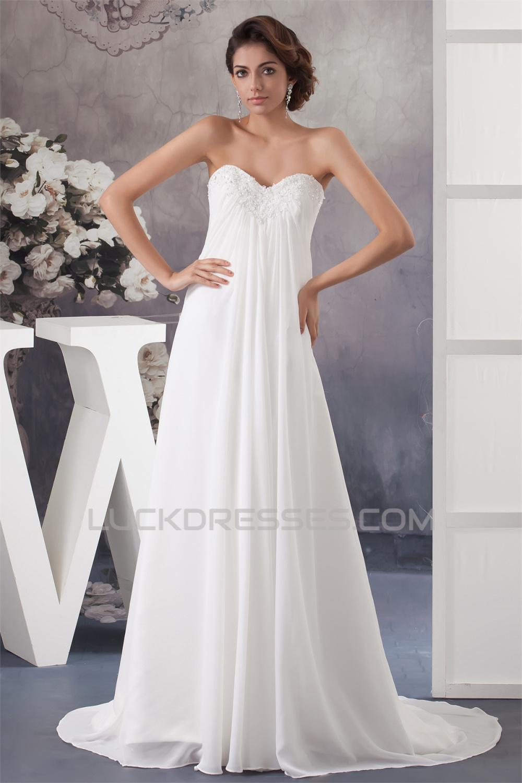 New Style A-Line Sweetheart Chiffon Lace Wedding Dresses Maternity ...