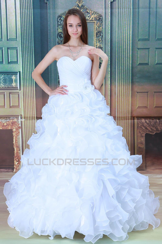 Satin Sleeveless Sweetheart Ball Gown New Arrival Wedding Dresses ...