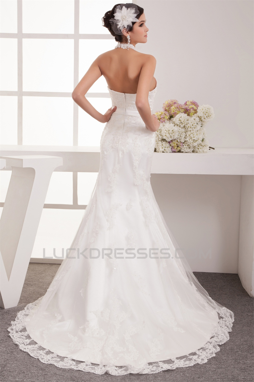 Sheer mermaid trumpet satin lace sleeveless new arrival for Satin trumpet wedding dress