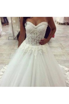 Ball Gown Sweetheart Lace Tulle Wedding Dresses Bridal Gowns 3030002