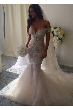 Mermaid Off-the-Shoulder Lace Wedding Dresses Bridal Gowns 3030007