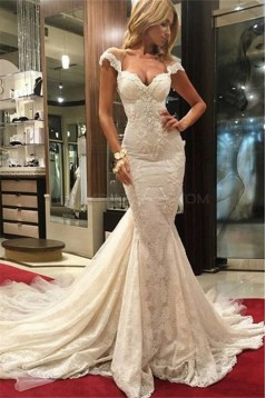 Mermaid Off-the-Shoulder Lace Wedding Dresses Bridal Gowns 3030014