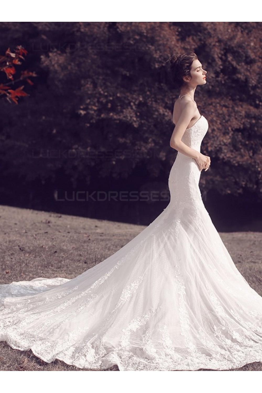 8e86b3f723 Mermaid Strapless Lace Wedding Dresses Bridal Gowns 3030097