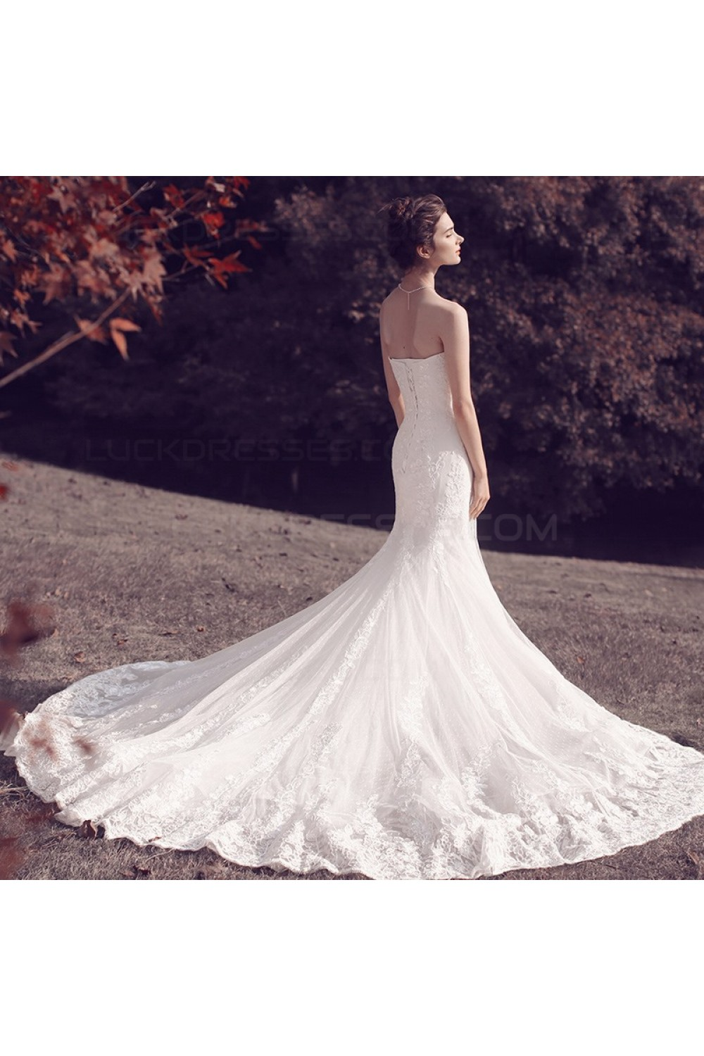 strapless mermaid wedding dresses mermaid strapless lace wedding dresses bridal gowns 3030097 7720