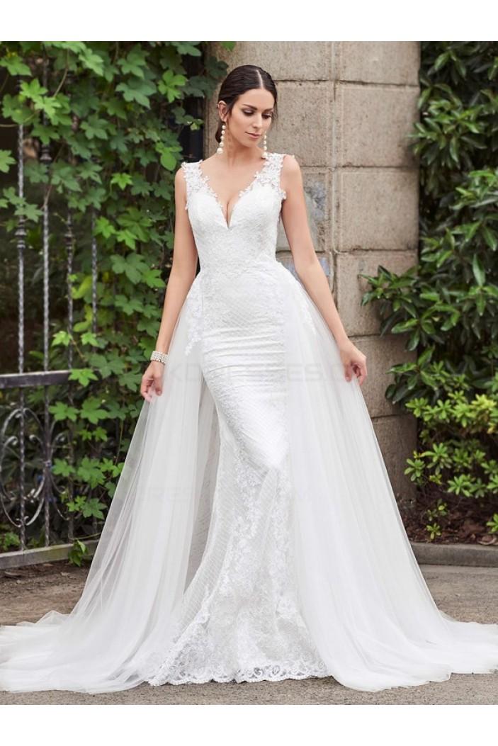 2017 Elegant Boho Lace Mermaid Wedding Dresses Cap Sleeve