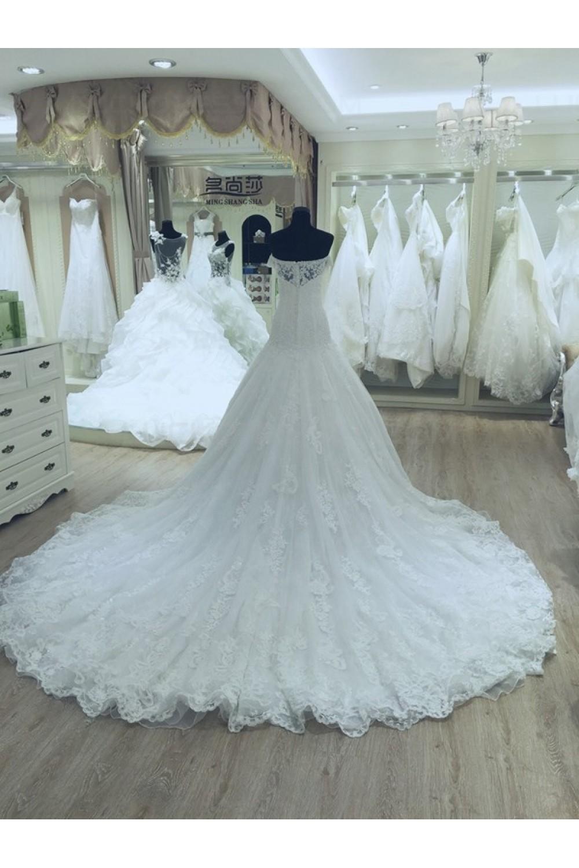 Lace Off-the-Shoulder Wedding Dresses Bridal Gowns 3030147