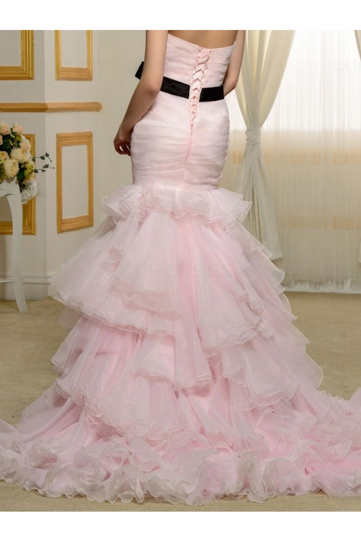 Mermaid Sweetheart Pink Wedding Dresses Bridal Gowns 3030174