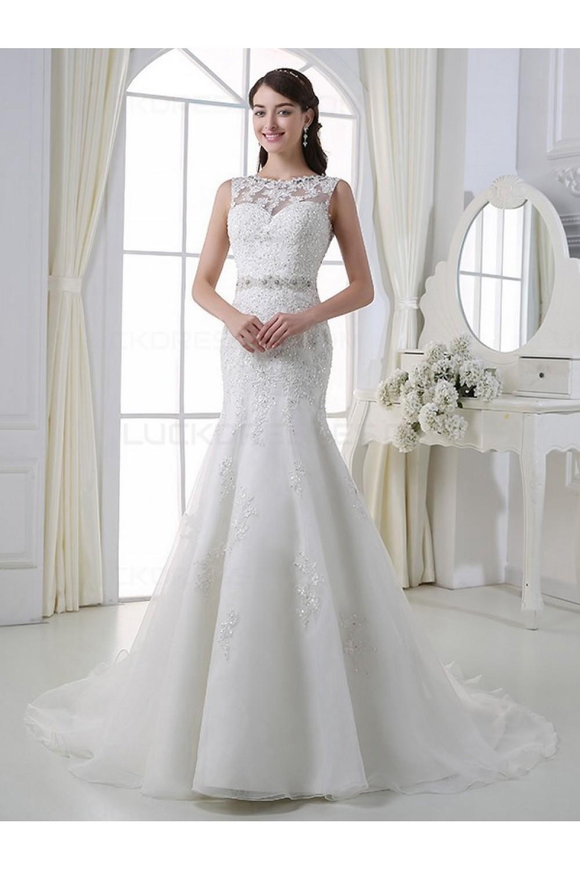 Mermaid Sleeveless Lace Wedding Dresses Bridal Gowns 3030190