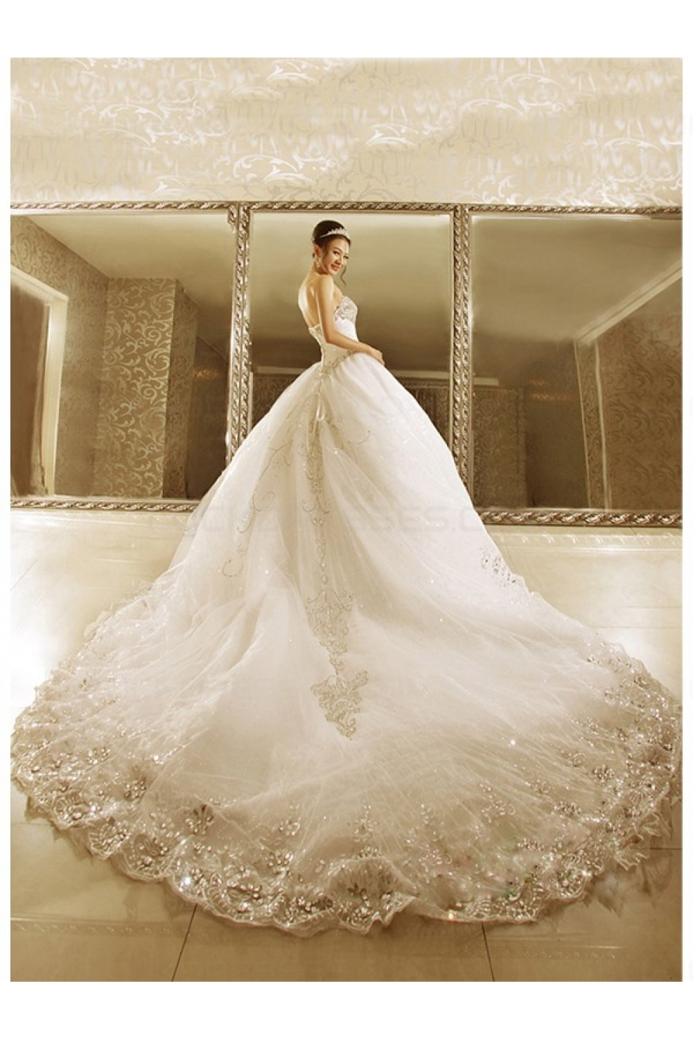 Ball Gown Crystal Wedding Dresses Bridal Gowns 3030191