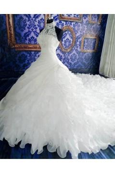 Halter Lace Wedding Dresses Bridal Gowns 3030211