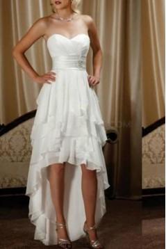 High Low Chiffon Wedding Dresses Bridal Gowns 3030278